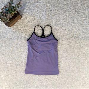 Women's Sm Champion Purple Tan wit built-in bra